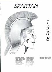 Page 5, 1988 Edition, Bernalillo High School - Spartan Yearbook (Bernalillo, NM) online yearbook collection