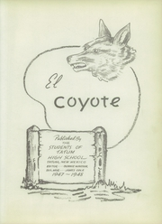 Page 7, 1948 Edition, Tatum High School - El Coyote Yearbook (Tatum, NM) online yearbook collection