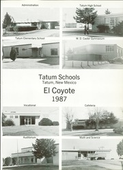 Page 5, 1987 Edition, Tatum High School - El Coyote Yearbook (Tatum, NM) online yearbook collection