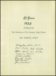 Page 5, 1953 Edition, Fort Sumner High School - El Zorro Yearbook (Fort Sumner, NM) online yearbook collection