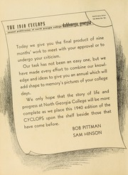 Page 6, 1940 Edition, North Georgia College - Cyclops Yearbook (Dahlonega, GA) online yearbook collection
