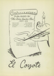 Page 7, 1952 Edition, Dora High School - El Coyote Yearbook (Dora, NM) online yearbook collection
