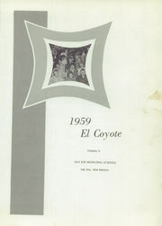 Page 5, 1959 Edition, San Jon High School - El Coyote Yearbook (San Jon, NM) online yearbook collection