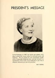 Page 7, 1961 Edition, St Marys College - Dove Castellan Yearbook (St Marys City, MD) online yearbook collection
