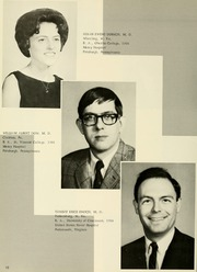 Page 14, 1968 Edition, West Virginia University School of Medicine - Pylon Yearbook (Morgantown, WV) online yearbook collection