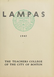 Page 9, 1940 Edition, Boston State College - Bostonian / Lampas Yearbook (Boston, MA) online yearbook collection