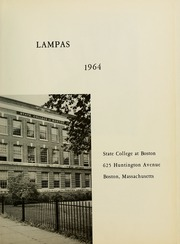 Page 5, 1964 Edition, Boston State College - Bostonian / Lampas Yearbook (Boston, MA) online yearbook collection