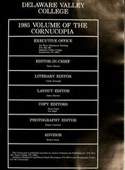 Page 5, 1985 Edition, Delaware Valley College - Cornucopia Yearbook (Doylestown, PA) online yearbook collection