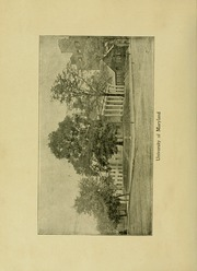 Page 12, 1902 Edition, University of Maryland School of Pharmacy - Terra Mariae Yearbook (Baltimore, MD) online yearbook collection