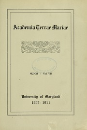 Page 9, 1911 Edition, University of Maryland School of Pharmacy - Terra Mariae Yearbook (Baltimore, MD) online yearbook collection