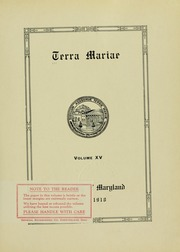 Page 7, 1918 Edition, University of Maryland School of Pharmacy - Terra Mariae Yearbook (Baltimore, MD) online yearbook collection