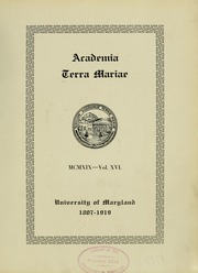 Page 9, 1919 Edition, University of Maryland School of Pharmacy - Terra Mariae Yearbook (Baltimore, MD) online yearbook collection