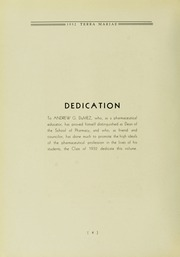 Page 10, 1932 Edition, University of Maryland School of Pharmacy - Terra Mariae Yearbook (Baltimore, MD) online yearbook collection