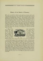 Page 15, 1932 Edition, University of Maryland School of Pharmacy - Terra Mariae Yearbook (Baltimore, MD) online yearbook collection