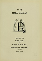 Page 7, 1932 Edition, University of Maryland School of Pharmacy - Terra Mariae Yearbook (Baltimore, MD) online yearbook collection
