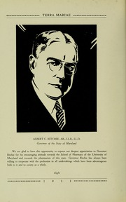 Page 16, 1933 Edition, University of Maryland School of Pharmacy - Terra Mariae Yearbook (Baltimore, MD) online yearbook collection
