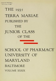Page 8, 1935 Edition, University of Maryland School of Pharmacy - Terra Mariae Yearbook (Baltimore, MD) online yearbook collection