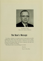Page 9, 1956 Edition, University of Maryland School of Pharmacy - Terra Mariae Yearbook (Baltimore, MD) online yearbook collection