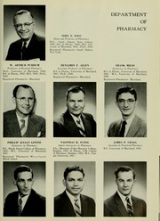 Page 13, 1958 Edition, University of Maryland School of Pharmacy - Terra Mariae Yearbook (Baltimore, MD) online yearbook collection