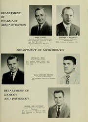 Page 15, 1958 Edition, University of Maryland School of Pharmacy - Terra Mariae Yearbook (Baltimore, MD) online yearbook collection