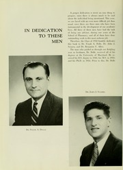 Page 8, 1958 Edition, University of Maryland School of Pharmacy - Terra Mariae Yearbook (Baltimore, MD) online yearbook collection
