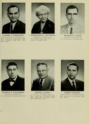 Page 13, 1959 Edition, University of Maryland School of Pharmacy - Terra Mariae Yearbook (Baltimore, MD) online yearbook collection