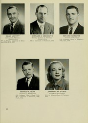 Page 15, 1959 Edition, University of Maryland School of Pharmacy - Terra Mariae Yearbook (Baltimore, MD) online yearbook collection