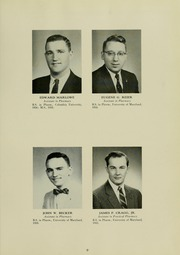 Page 13, 1960 Edition, University of Maryland School of Pharmacy - Terra Mariae Yearbook (Baltimore, MD) online yearbook collection