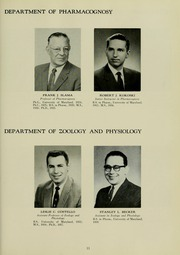 Page 15, 1960 Edition, University of Maryland School of Pharmacy - Terra Mariae Yearbook (Baltimore, MD) online yearbook collection