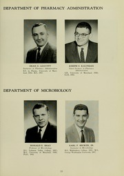 Page 17, 1960 Edition, University of Maryland School of Pharmacy - Terra Mariae Yearbook (Baltimore, MD) online yearbook collection