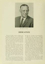 Page 8, 1960 Edition, University of Maryland School of Pharmacy - Terra Mariae Yearbook (Baltimore, MD) online yearbook collection