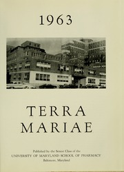 Page 5, 1963 Edition, University of Maryland School of Pharmacy - Terra Mariae Yearbook (Baltimore, MD) online yearbook collection