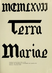 Page 5, 1967 Edition, University of Maryland School of Pharmacy - Terra Mariae Yearbook (Baltimore, MD) online yearbook collection