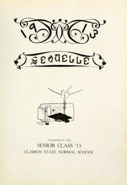 Page 7, 1913 Edition, Clarion University of Pennsylvania - Sequelle Yearbook (Clarion, PA) online yearbook collection