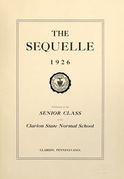 Page 5, 1926 Edition, Clarion University of Pennsylvania - Sequelle Yearbook (Clarion, PA) online yearbook collection