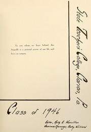 Page 7, 1946 Edition, Clarion University of Pennsylvania - Sequelle Yearbook (Clarion, PA) online yearbook collection