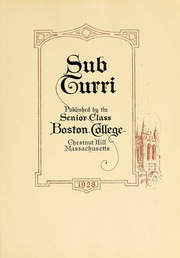 Page 11, 1928 Edition, Boston College - Sub Turri Yearbook (Boston, MA) online yearbook collection