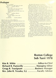 Page 5, 1978 Edition, Boston College - Sub Turri Yearbook (Boston, MA) online yearbook collection