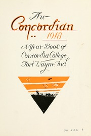 Page 15, 1918 Edition, Concordia College - Concordian Yearbook (Fort Wayne, IN) online yearbook collection