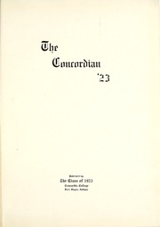 Page 5, 1923 Edition, Concordia College - Concordian Yearbook (Fort Wayne, IN) online yearbook collection