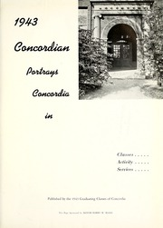 Page 5, 1943 Edition, Concordia College - Concordian Yearbook (Fort Wayne, IN) online yearbook collection