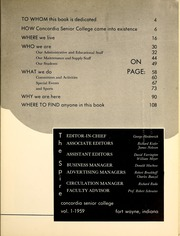 Page 7, 1959 Edition, Concordia College - Concordian Yearbook (Fort Wayne, IN) online yearbook collection