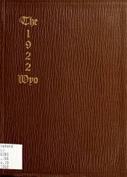 1921 Edition, University of Wyoming - WYO Yearbook (Laramie, WY)