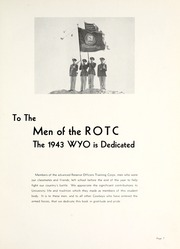 Page 11, 1943 Edition, University of Wyoming - WYO Yearbook (Laramie, WY) online yearbook collection