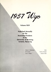Page 5, 1957 Edition, University of Wyoming - WYO Yearbook (Laramie, WY) online yearbook collection