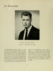 Page 12, 1962 Edition, University of Maryland School of Medicine - Terrae Mariae Medicus (Baltimore, MD) online yearbook collection