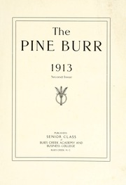Page 3, 1913 Edition, Campbell University - Pine Burr Yearbook (Buies Creek, NC) online yearbook collection