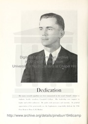 Page 8, 1946 Edition, Campbell University - Pine Burr Yearbook (Buies Creek, NC) online yearbook collection