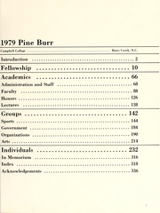 Page 11, 1979 Edition, Campbell University - Pine Burr Yearbook (Buies Creek, NC) online yearbook collection