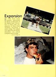 Page 14, 1987 Edition, Campbell University - Pine Burr Yearbook (Buies Creek, NC) online yearbook collection